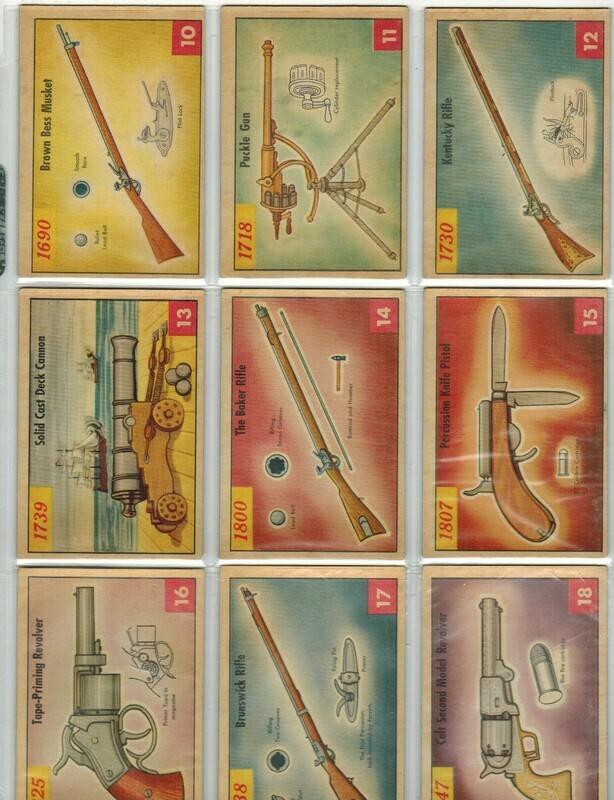 1953 Parkhurst Guns & Pistols complete Set