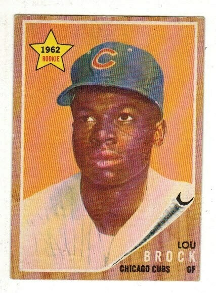 1962 Topps #387 Lou Brock rookie, List $250, Sell $175