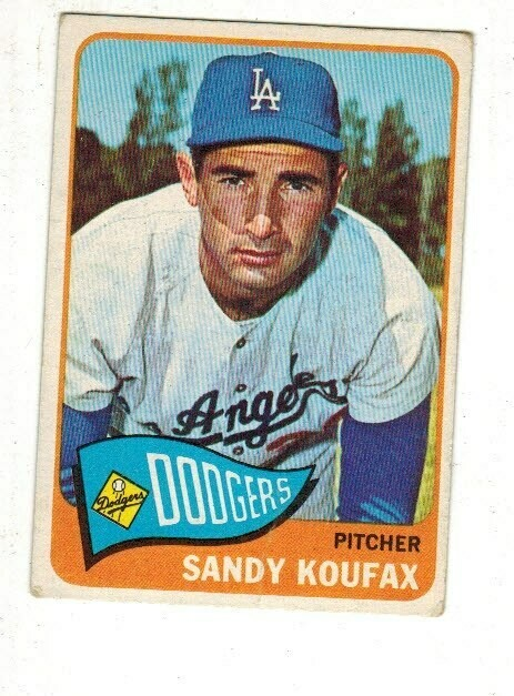 1965 Topps #300 Sandy Koufax VG/EX