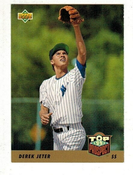 1993 Upper #449 Deck Derek Jeter rookie card