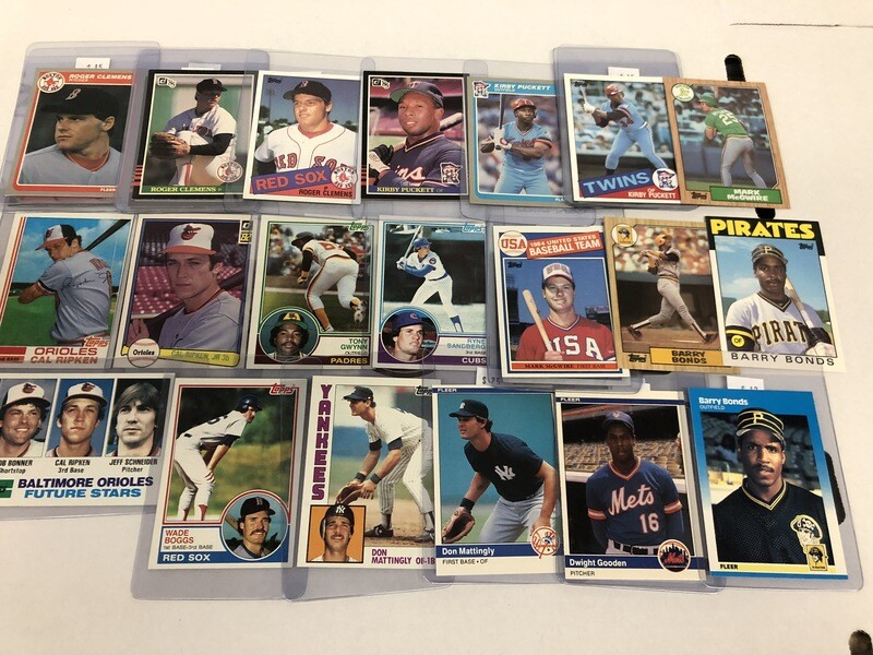 1980s Rookie Cards of Superstar Hall of Famers