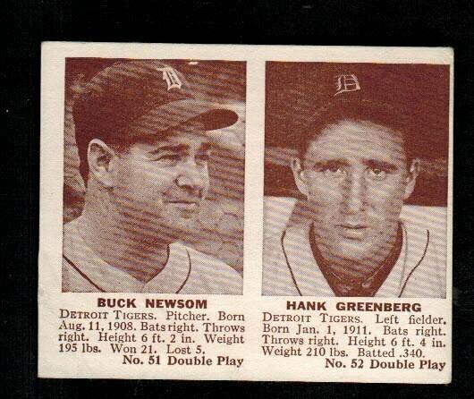 1941 Double Play #51/52 Hank Greenberg /Newsom