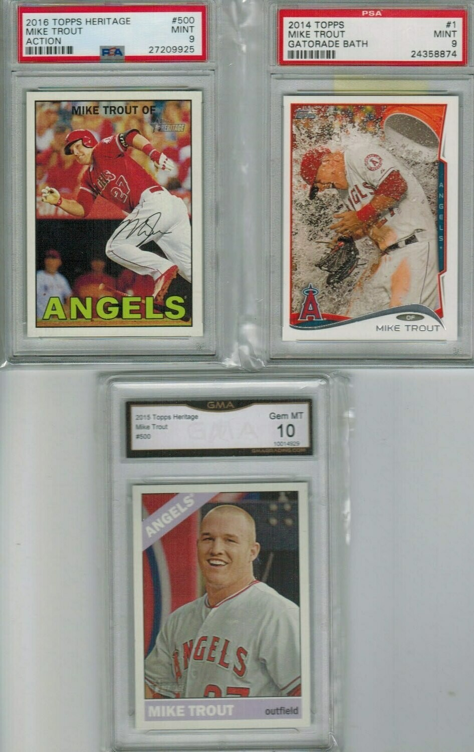2015 Heritage #500 Mike Trout GMA 10