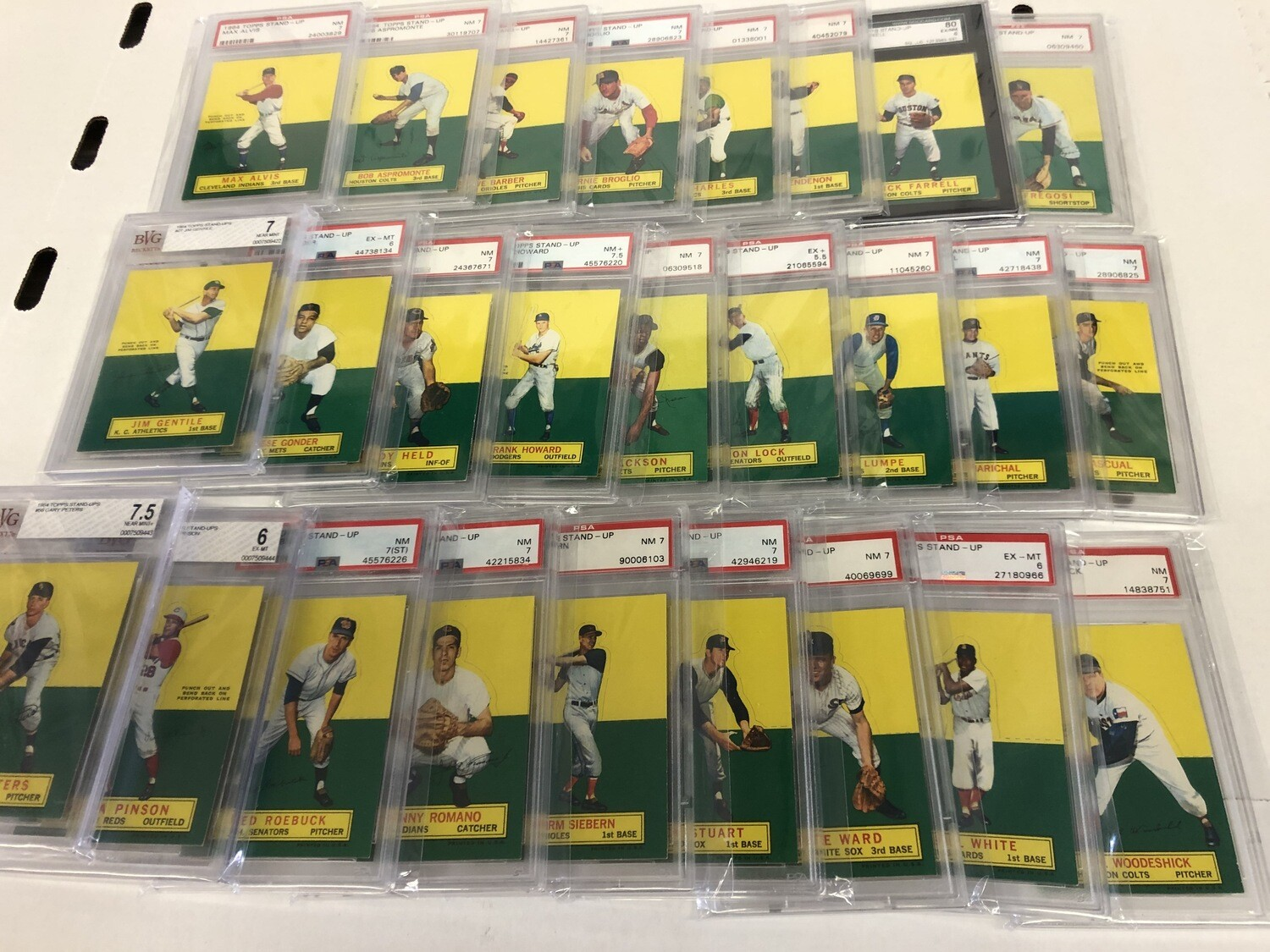1964 Topps Stand Ups Graded single cards for sale