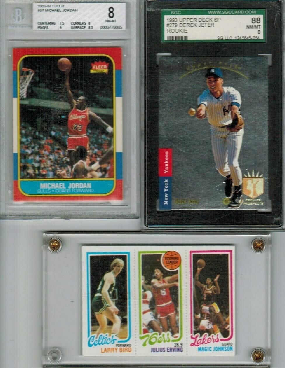1986/87 Fleer Michael Jordan rookie Beckett Graded 8
