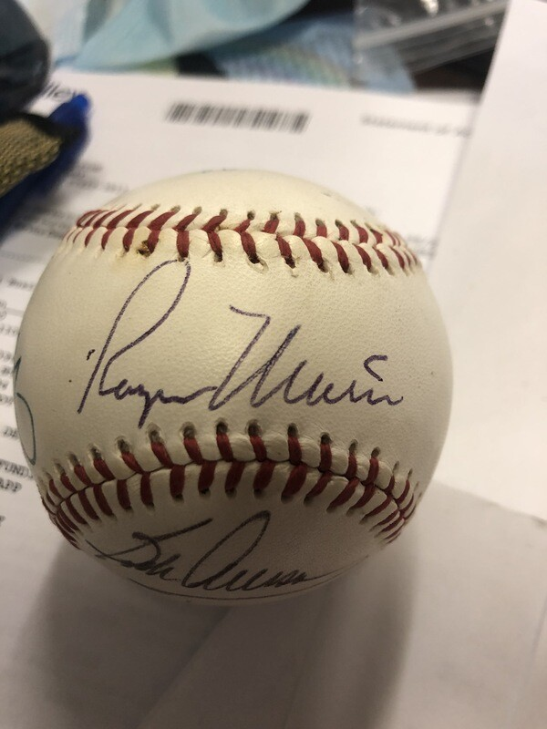 Roger Maris/Mickey Mantle Nr Mint signed baseball PSA/DNA Authenticated
