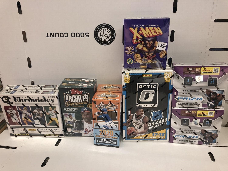 Assorted new Pack Boxes Baseball, Basketball, Football