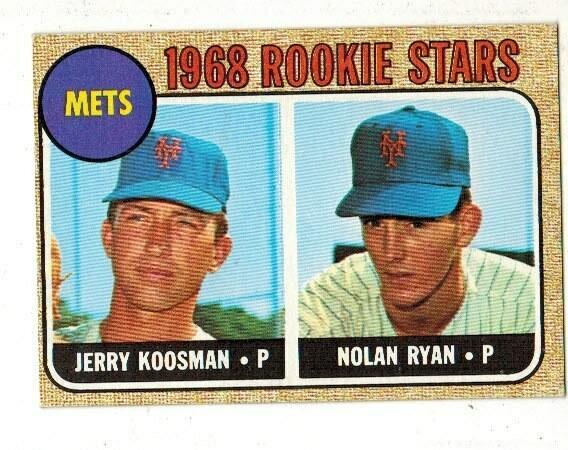 1968 Topps #177 Nolan Ryan rookie list $1000