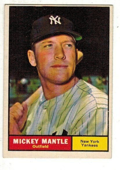 1961 Topps #300 Mickey Mantle list $600
