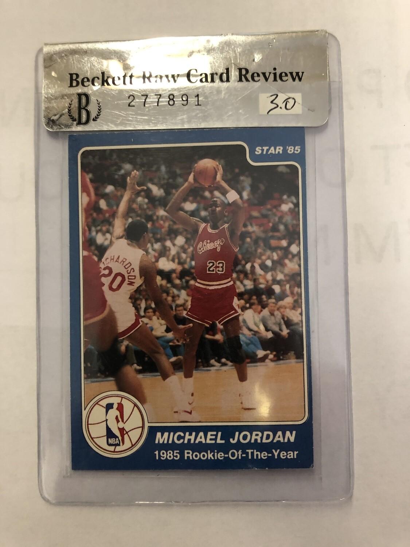 1985 Star #288 Michael Jordan Beckett Graded 3