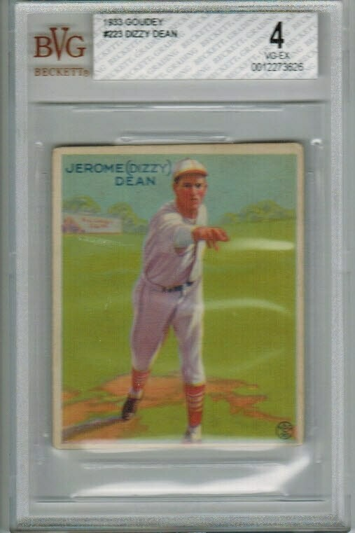 1933 Goudey #233 Dizzy Dean Beckett Graded 4