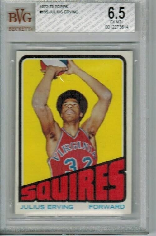 1972/73 Topps Julius Erving rookie Beckett Graded 6.5