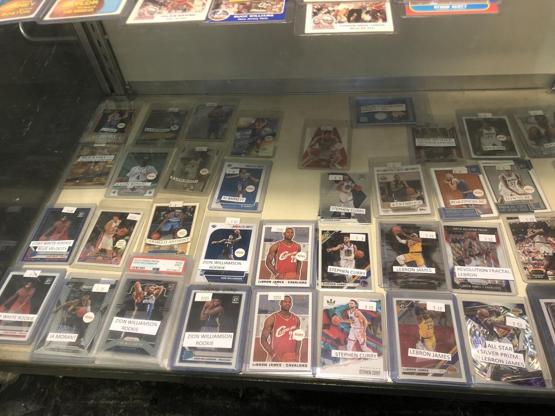 Basketball Cards on Display @ America's Pastime