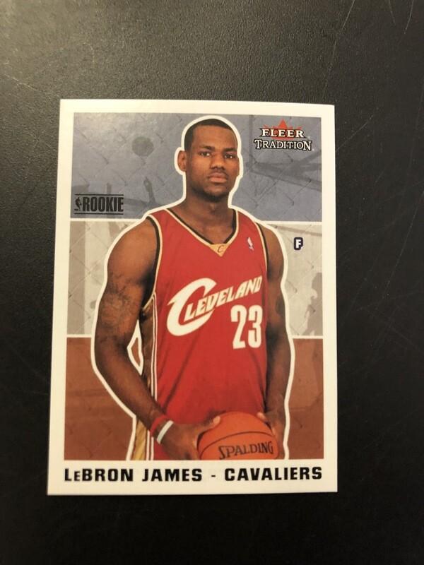 2003-04 Fleer Tradition Lebron James rookie