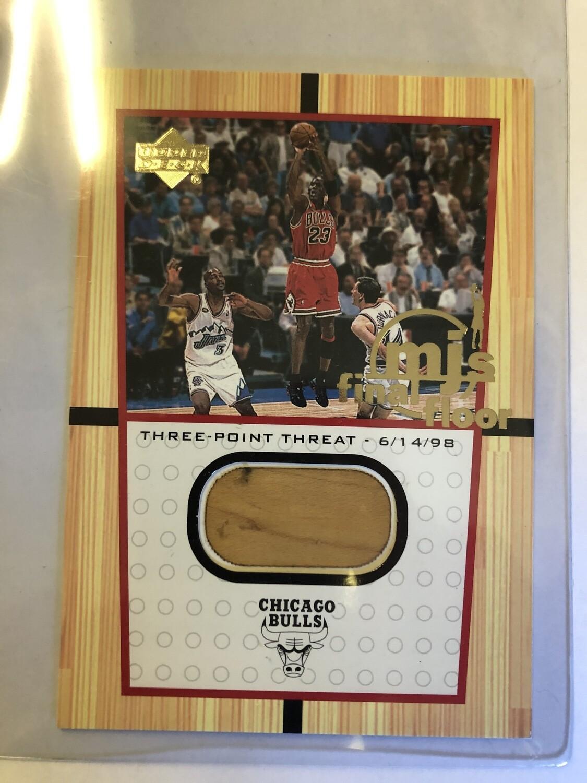 2000 Upper Deck Michael Jordan Final Piece of the Floor Card