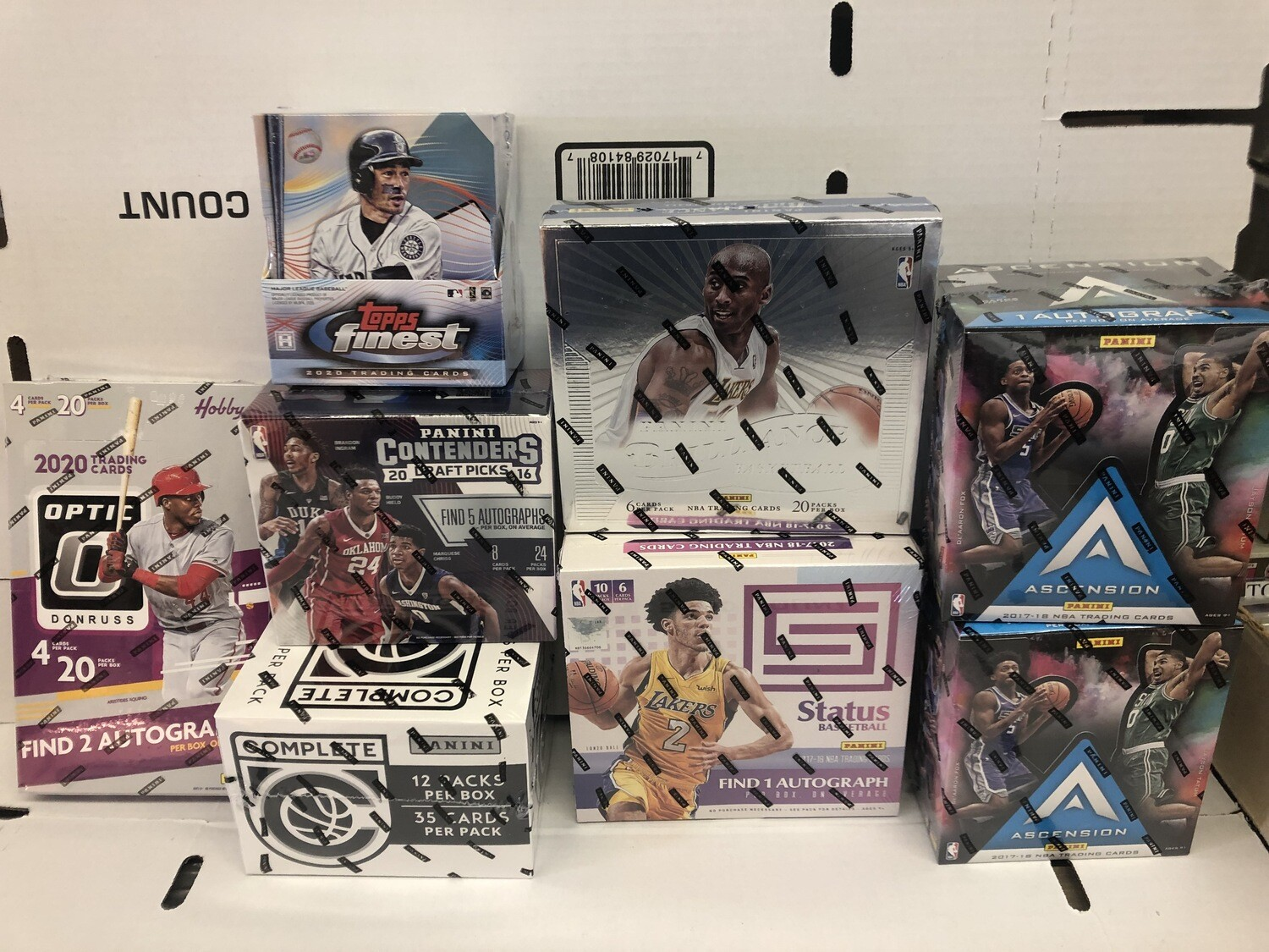 Assorted New Basketball & Baseball Boxes in Stock