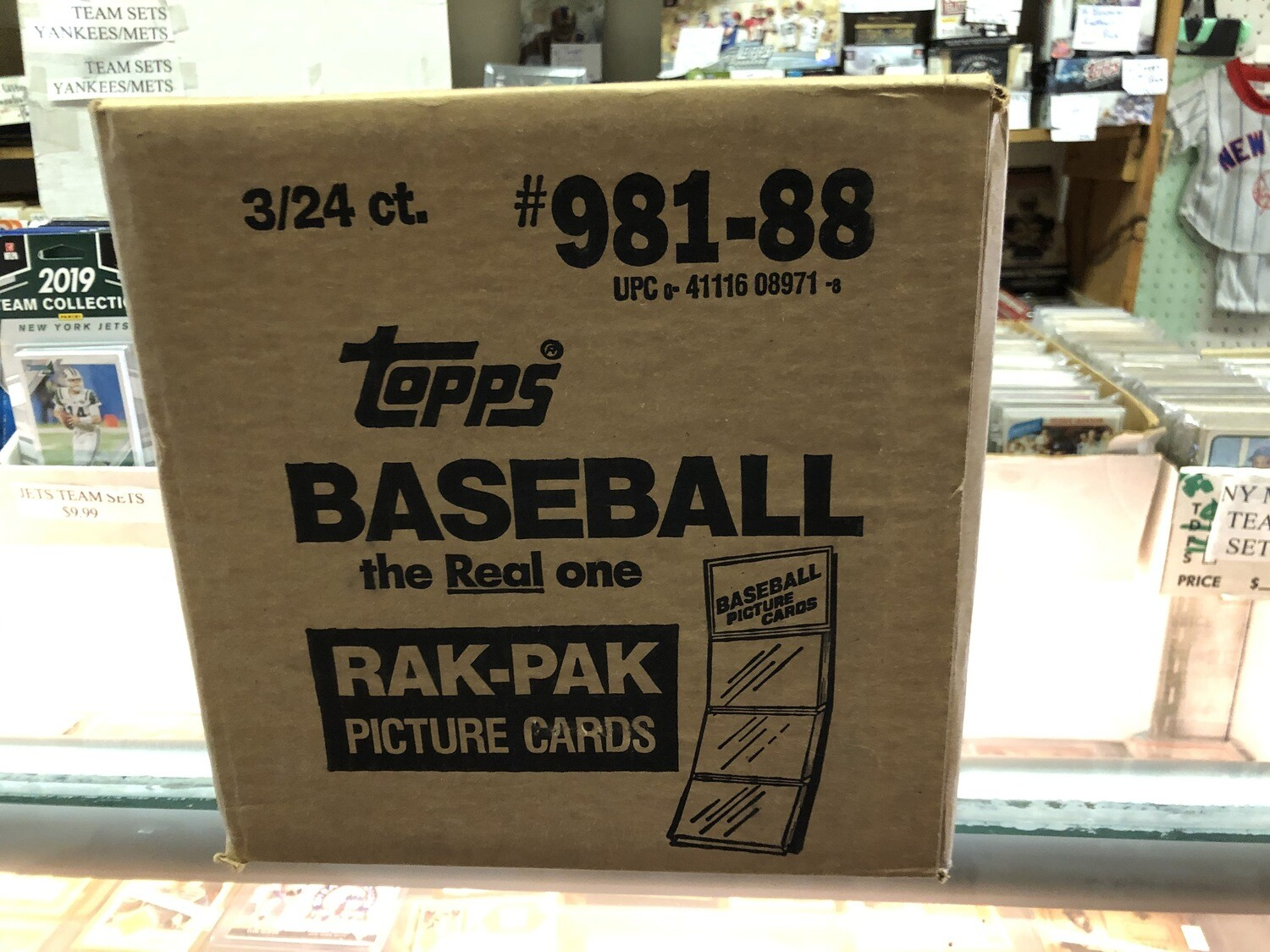 1988 Topps Rack Pack Case; 3,024 cards