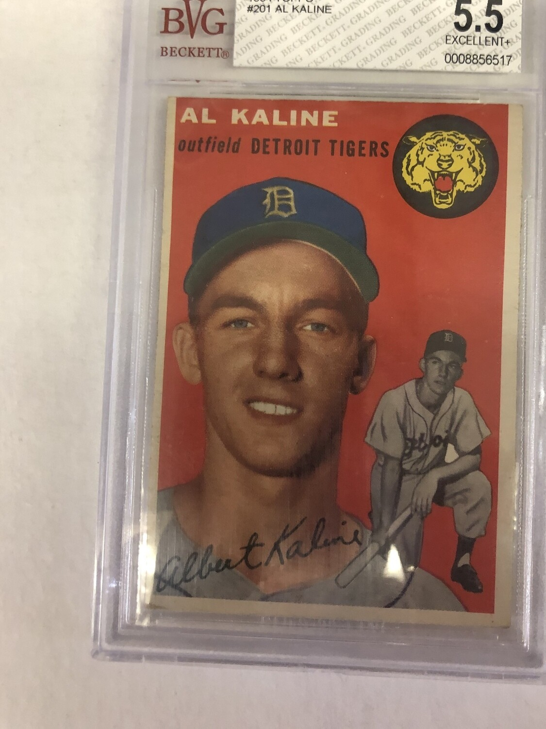 1954 Topps #201 Al Kaline, Beckett graded 5.5 $895
