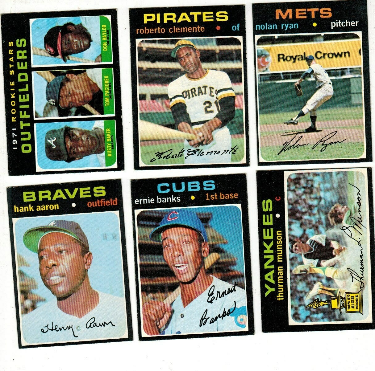 1971 Topps Baseball complete set Ex to Ex/Mint