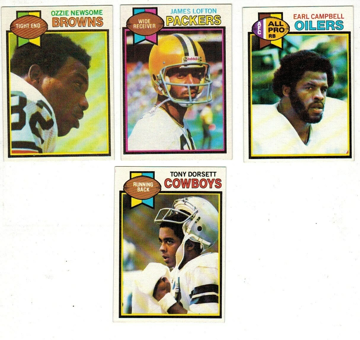1979 Topps Football set-Campbell rc, Newsome rc, Lofton rc Ex+ to Ex/Mint list $150