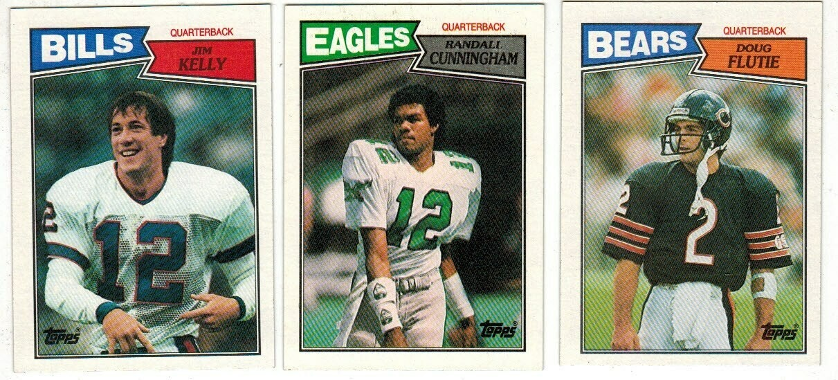 1987 Topps Football set-Cunningham rc,J. Kelly rc, Flutie rc  Ex/Mint