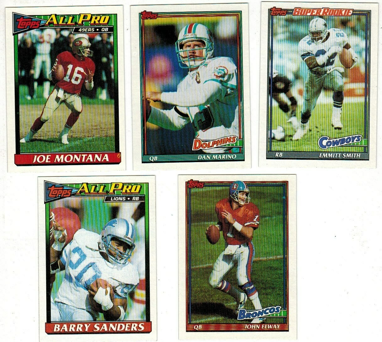 1991 Topps Football set-Em.Smith, Marino, Elway, Montana Nr Mint