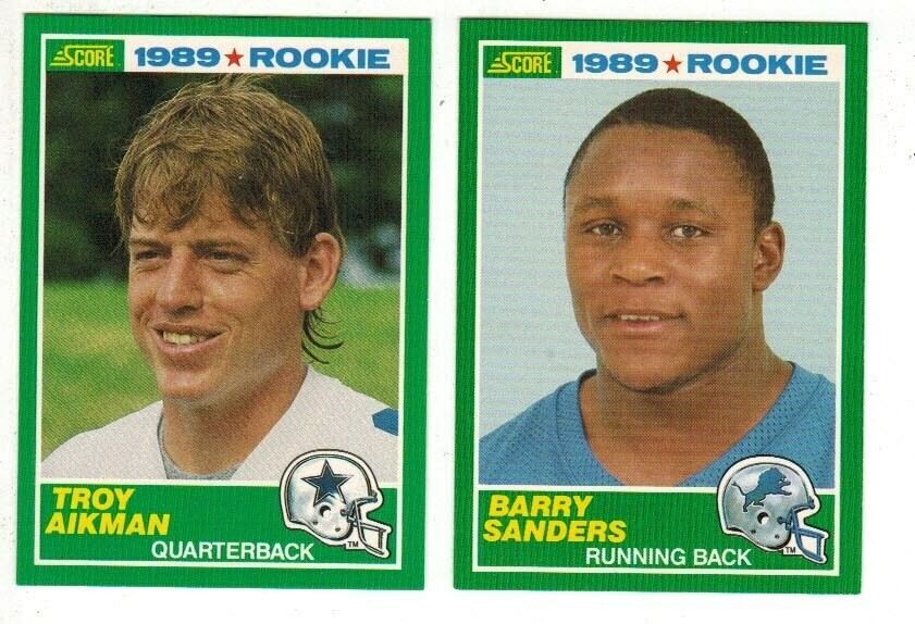 1989 Score Football Factory set - B.Sanders rookie, Aikman rookie