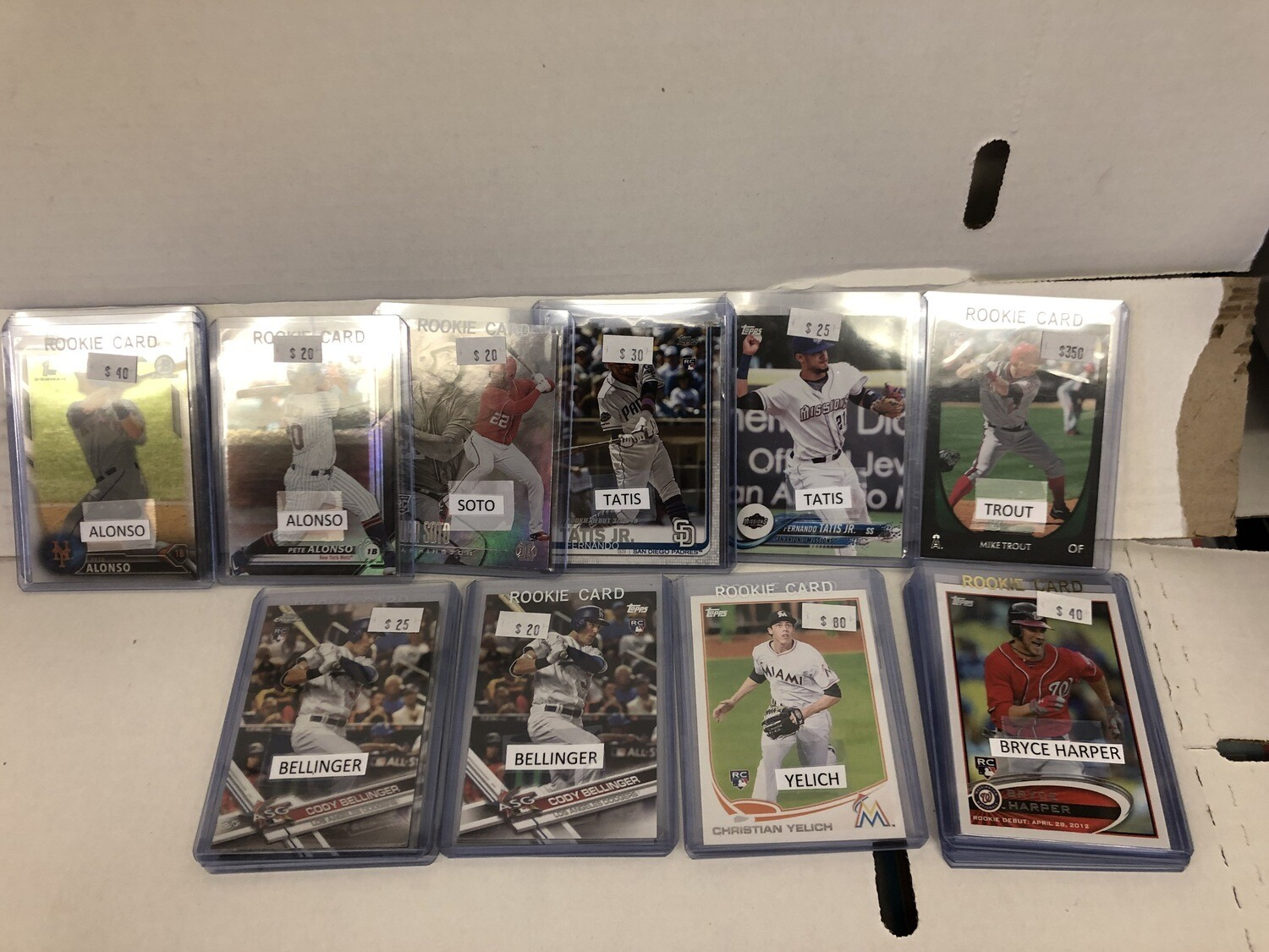 New Assorted Baseball Rookie Cards