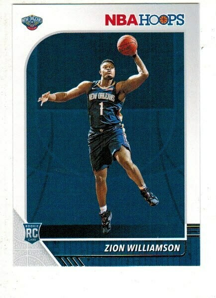 2019/20 Hoops #258 Zion Williamson rookie