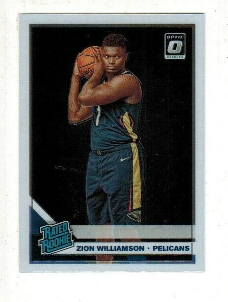 2019/20 Donruss Optic #158 Zion Williamson rookie