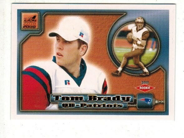 2000 Pacific Aurora #84 Tom Brady rookie