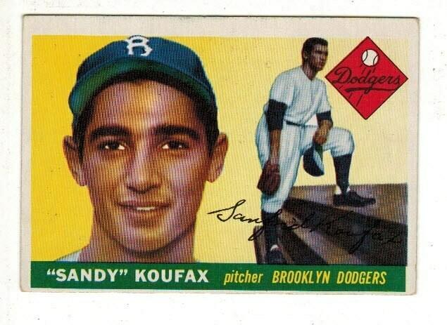 1955 Topps #123 Sandy Koufax rookie List $1500, sell $695