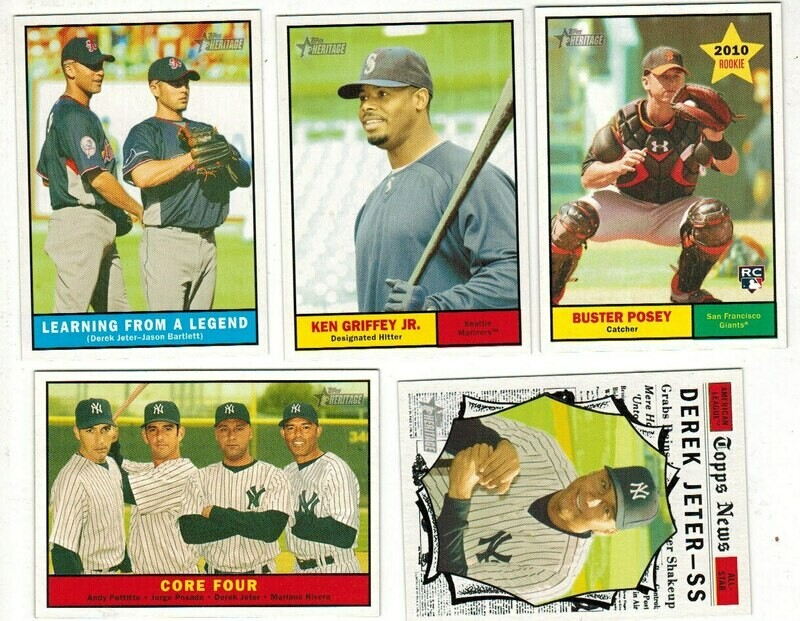 2010 Topps Heritage Baseball Complete set Nr Mint/Mint