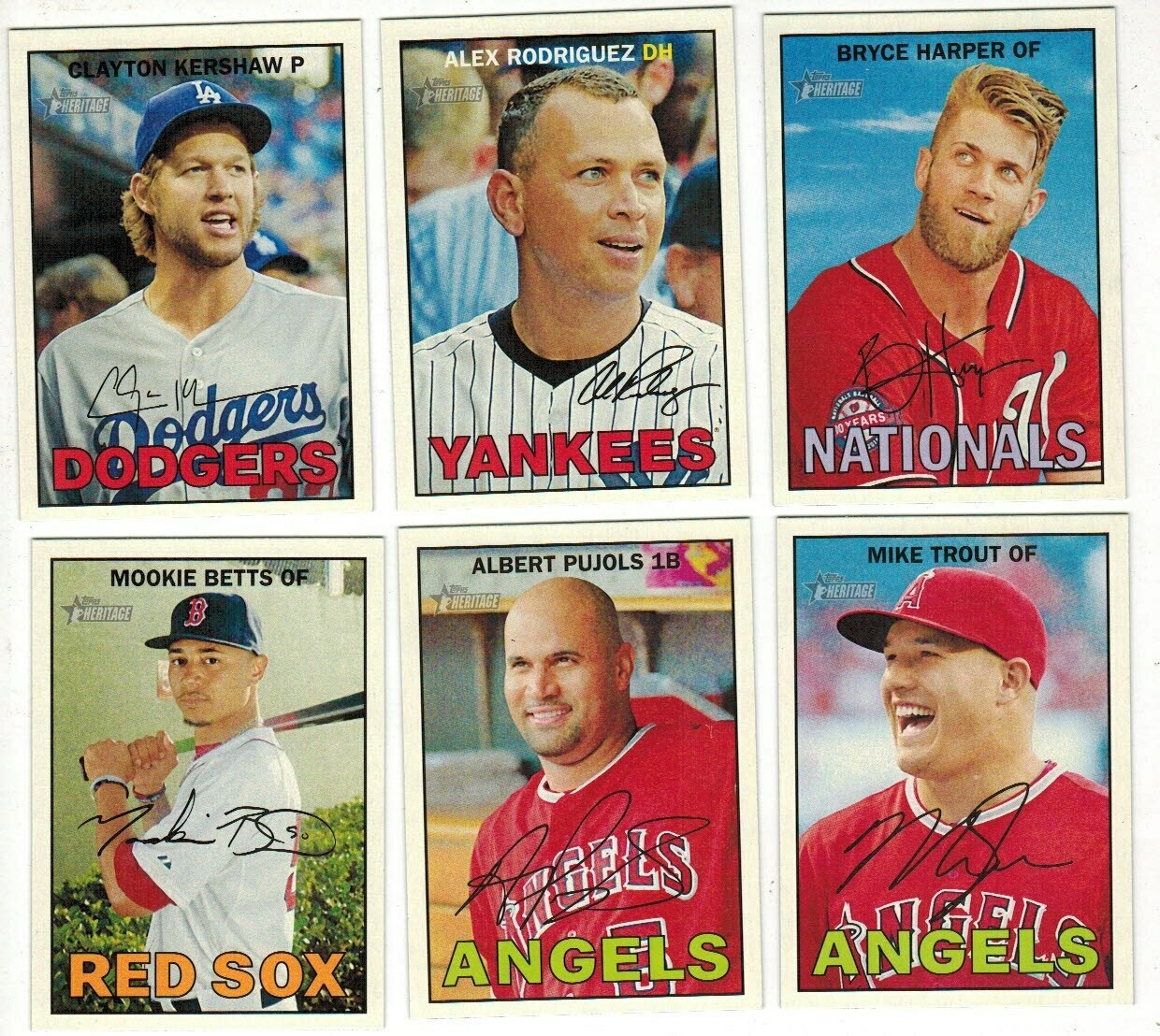 2016 Topps Heritage Baseball Complete set Nr Mint/Mint