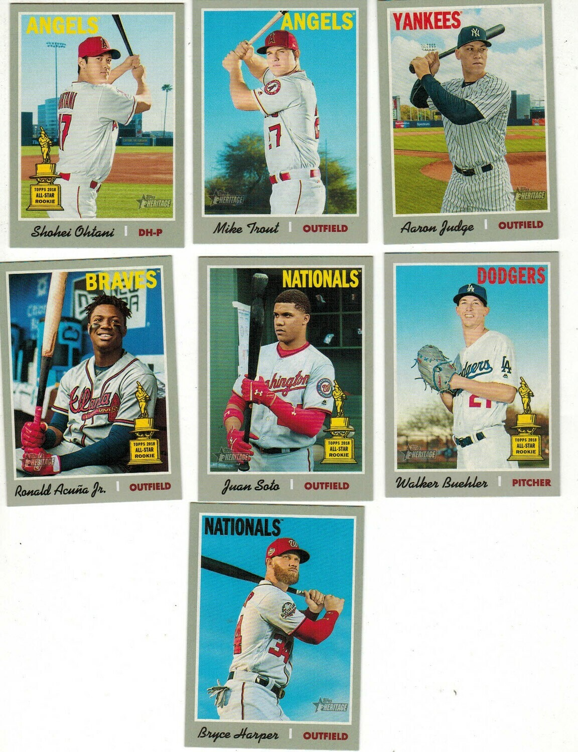 2019 Topps Heritage Baseball Complete set Nr Mint/Mint