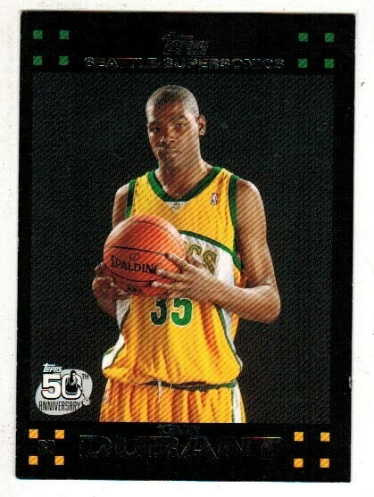 2007/08 Topps #112 Kevin Durant rookie