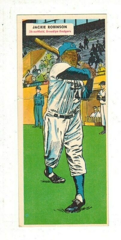 1955 Topps Doubleheader #25/26 Jackie Robinson Ex/Mint