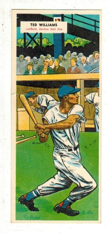1955 Topps Doubleheader #69/70 Ted Williams Ex/Mint List $400