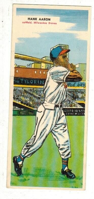 1955 Topps Doubleheader #105/106 Hank Aaron Ex/Mint List $500