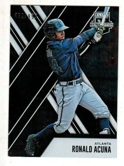 2017 Elite Extra Edition Ronald Acuna rookie card
