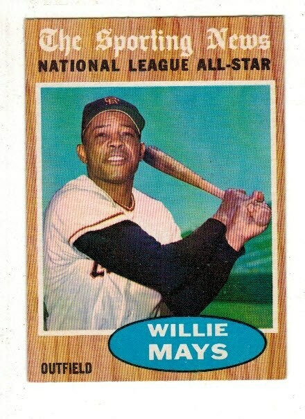 1962 Topps #395 Willie Mays All Star