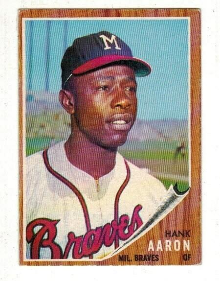 1962 Topps #320 Hank Aaron List $150