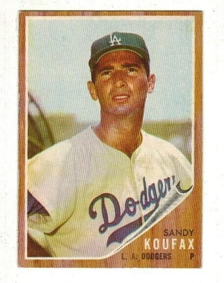 1962 Topps #5 Sandy Koufax list $120