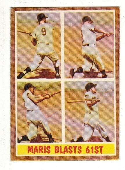 1962 Topps #313 Roger Maris Blasts 61st HR