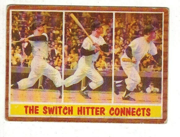 1962 Topps #318 Mickey Mantle Switch Hitter Connects list $100