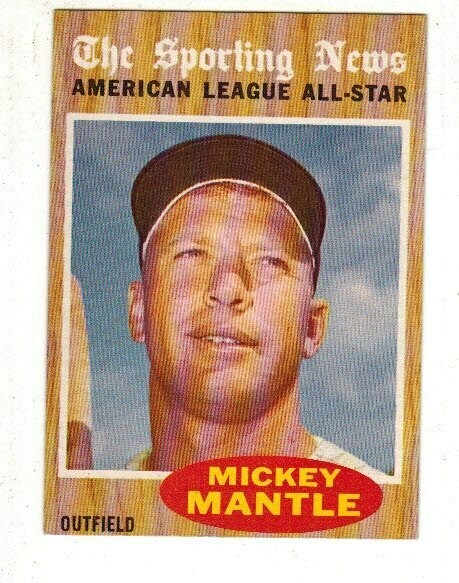 1962 Topps #471 Mickey Mantle All Star