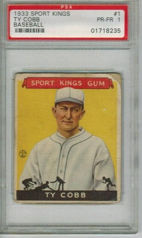 1933 Sport Kings Ty Cobb PSA 1