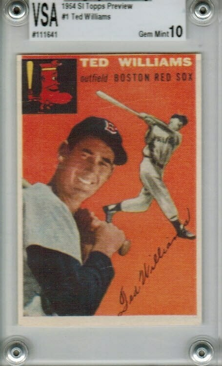1954 Sports Illustrated Topps Preview #1 Ted Williams