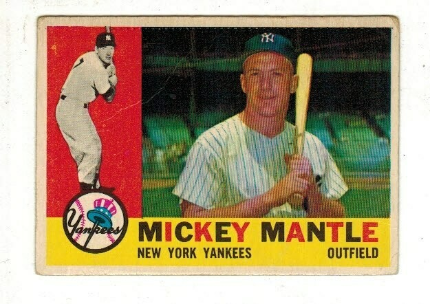1960 Topps #350 Mickey Mantle Fair