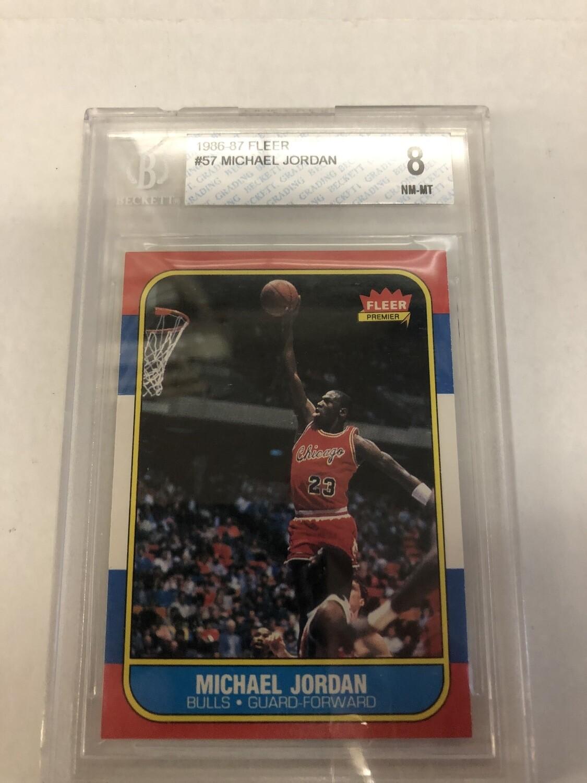 1986/87 Fleer Michael Jordan rookie Beckett 8
